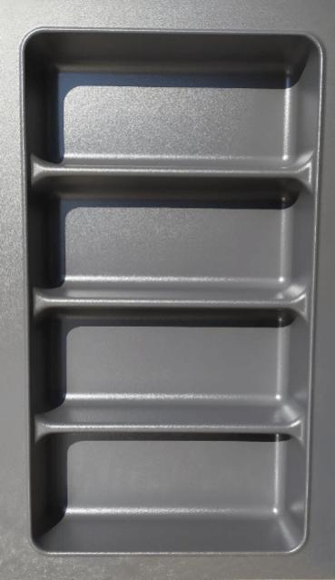 Κουταλοθήκη γκρί πλαστική  Π 29cm Χ Β 48cm  15964