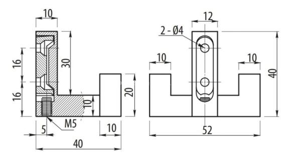 Κρεμάστρα Ρούχων 52χ40mm μεταλλική Conset  C1197 Νίκελ ματ