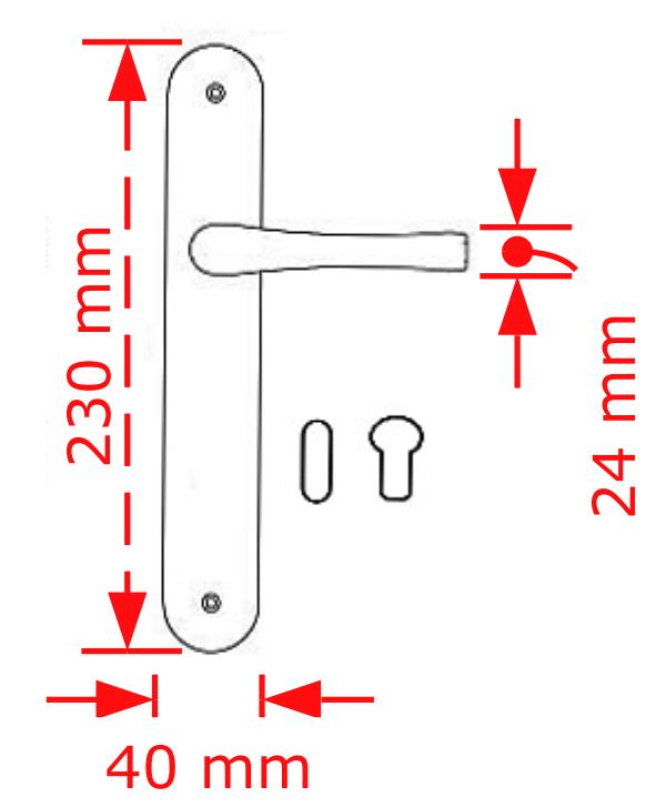 Χερούλι πόρτας πλάκα σε μαύρο ματ No 211