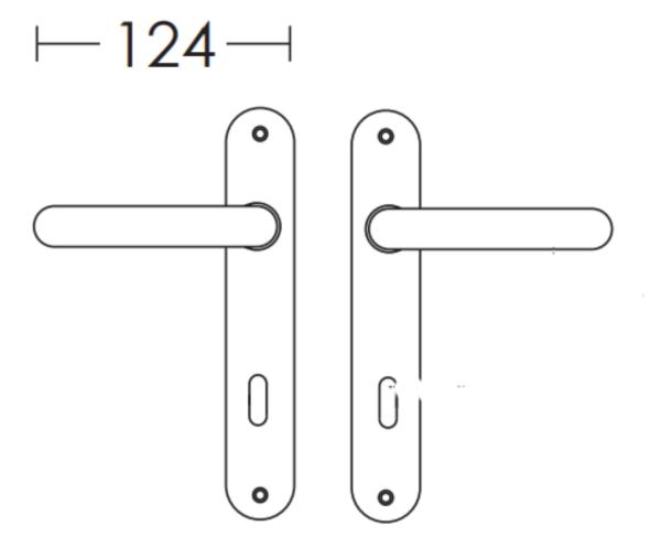 Χερούλι πόρτας  πλάκα μαύρο ματ C605
