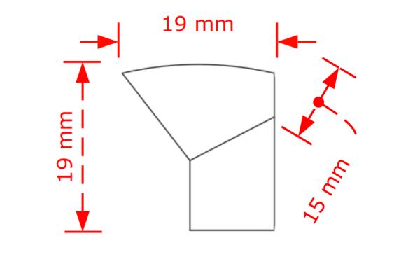 Πόμολο επίπλων  19mm μαύρο ματ Νο 71