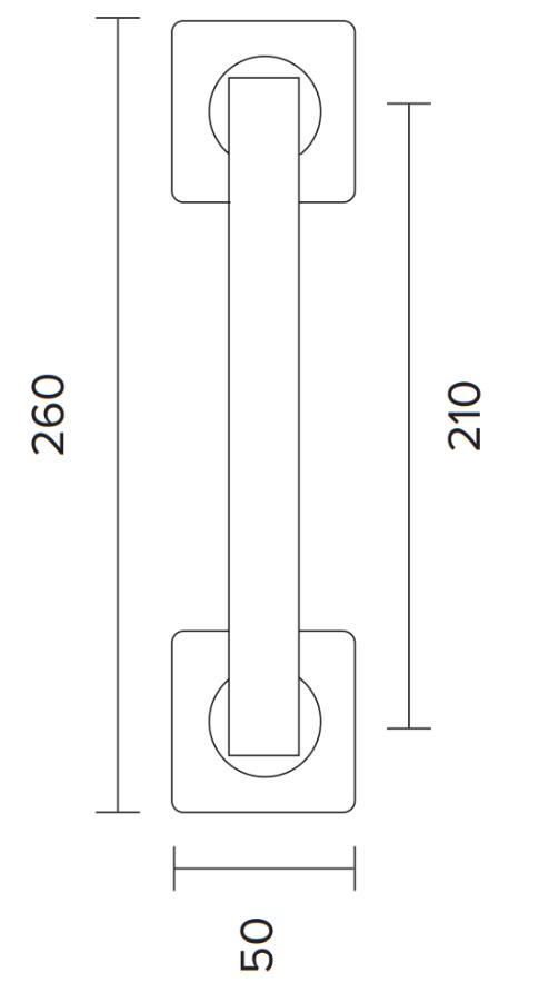 Λαβή εξώπορτας μαύρη ματ C875