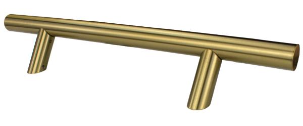 Λαβή εξώπορτας λοξή βάση χρυσή ματ Νο 226