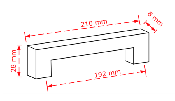 Λαβή επίπλων Νο  801 νίκελ ματ 19,2cm