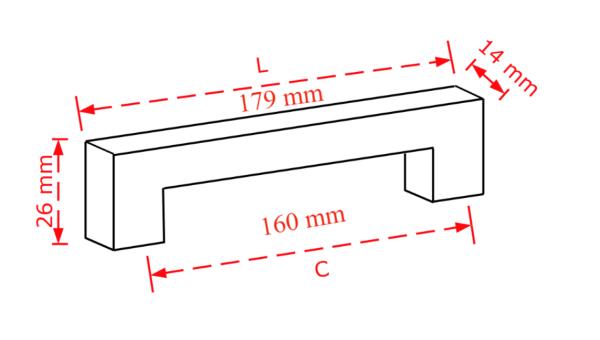 Λαβή επίπλων νίκελ ματ 16,0cm. No 803