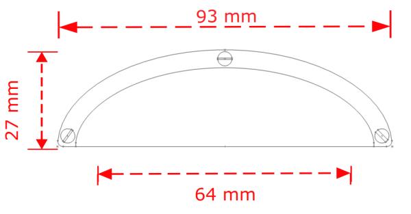 Λαβή επίπλου  Ζάμακ 6-64 Silver matt